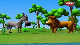 Lion & Donkey story in urdu, urdu kahani for childrens