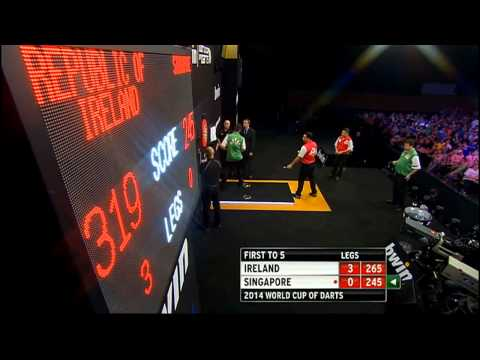 Republic of Ireland v Singapore | Round 1 | Word Cup of Darts 2014 (No sound)