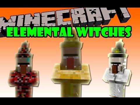 ELEMENTAL WITCHES MOD - Brujas de fuego, tierra, rayo, y aire - Minecraft mod 1.7.2 Español
