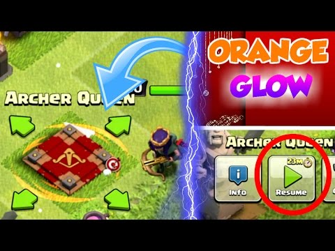 Clash Of Clans | HOW TO GET AN ORANGE GLOW ON BUILDINGS | PAUSED BOOST? |