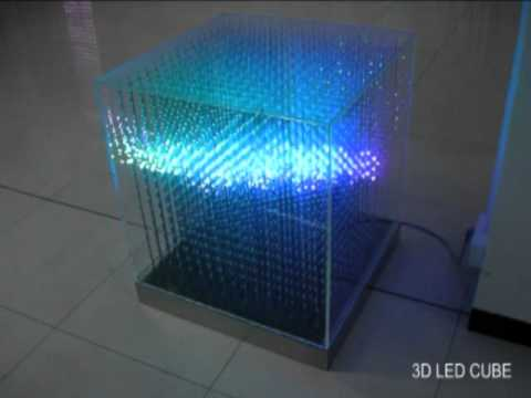 3d Led Rgb Arduino Cube 16x16x16 Youtube