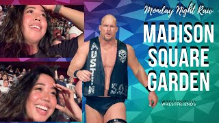 """Stone Cold"" Steve Austin at Madison Square Garden
