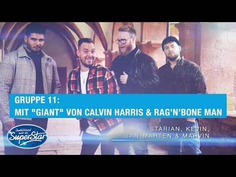 Play this video Gruppe 11 Starian, Kevin, Marvin amp Jan mit quotGiantquot von Calvin Harris amp RagвnвBone Man  DSDS 2021