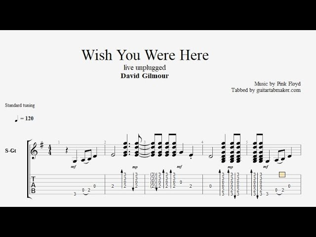 Pink Floyd Wish You Were Here Chords Image Collections Chord