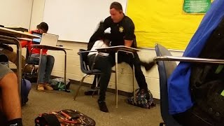 Cop Flips Black Student In Her Desk (VIDEO)