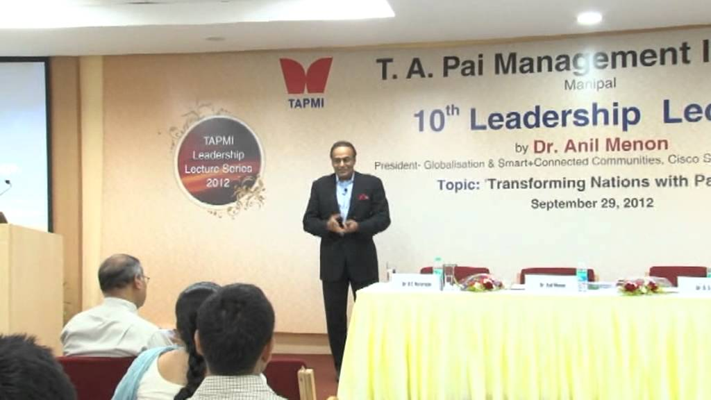 10th Leadership Lecture by Dr Anil Menon Part# 1/4