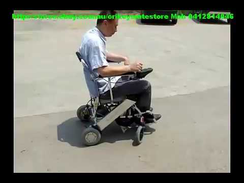 Demo Portashopper LIght Folding Electric Wheelchair