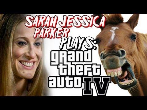 SARAH JESSICA PARKER PLAYS GTAIV!