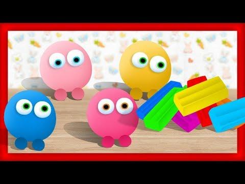 Разноцветный ПЛАСТИЛИН - Лепим пластилиновые Смешарики. Обучающее видео