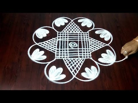 Qucik Chukkala Muggulu 4 x 4 || Easy Beginners Margazhi Kolam Design || Fashion World