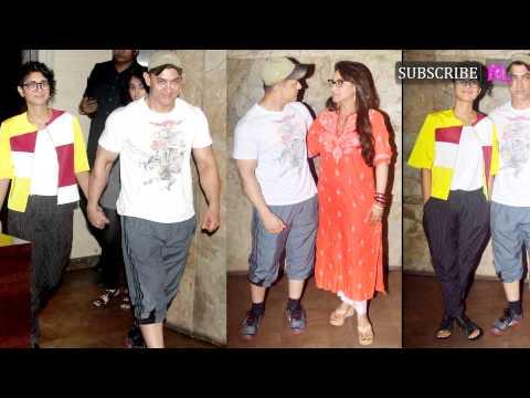 Aamir Khan attends screening of Rani Mukerji's Mardaani