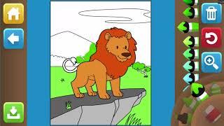 Game giáo dục - Game tô tranh mầu con Sư tử cho bé
