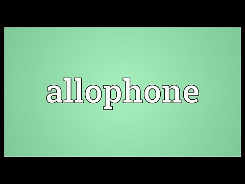 Header of allophone