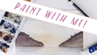PAINT WITH ME: Watercolor Lake Scene For Beginners