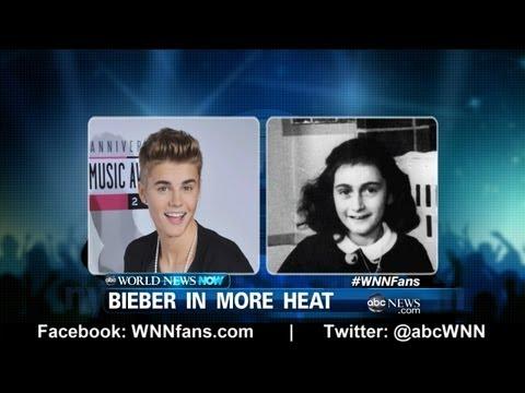 Justin Bieber Blunder About Anne Frank