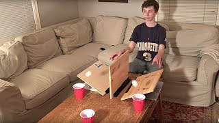 Ping Pong Trick Shots (With a Fidget Spinner Shot) | That's Amazing