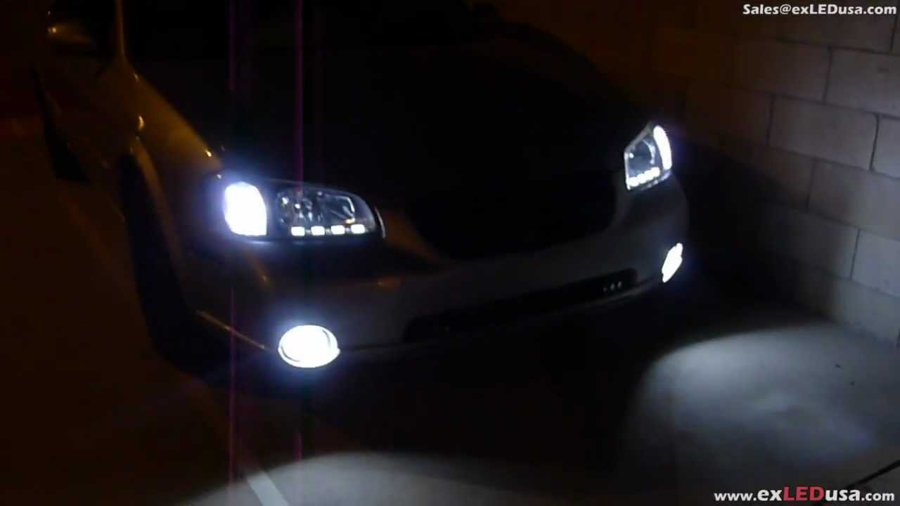 Exledusa 2000 nissan maxima custom led headlight custom build led turn signal q block clear