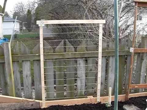 Trellis for Vegetables made Quickly, and CHEAPLY