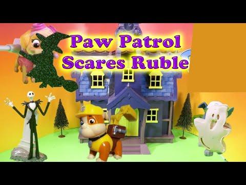 PAW PATROL Nickelodeon Paw Patrol Scares Rubble a Paw Patrol Video Parody