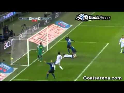 Inter vs Cesena 3-2 Cristian Chivu Goal 19-01-2011