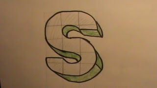 How to Draw the Letter S in 3D