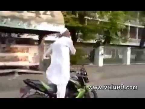 old man motorcycle  veling  very amazing video clip 2013