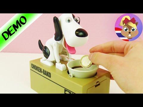 รีวิวของเล่น ที่สุดของกระปุกออมสิน เจ้าหมาน้อยกินเหรียญ! น่ารักที่สุดเลย