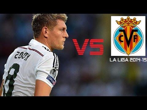 Toni Kroos vs Villareal | Villareal vs Real Madrid 0-2 | La Liga 2014/15 (A)