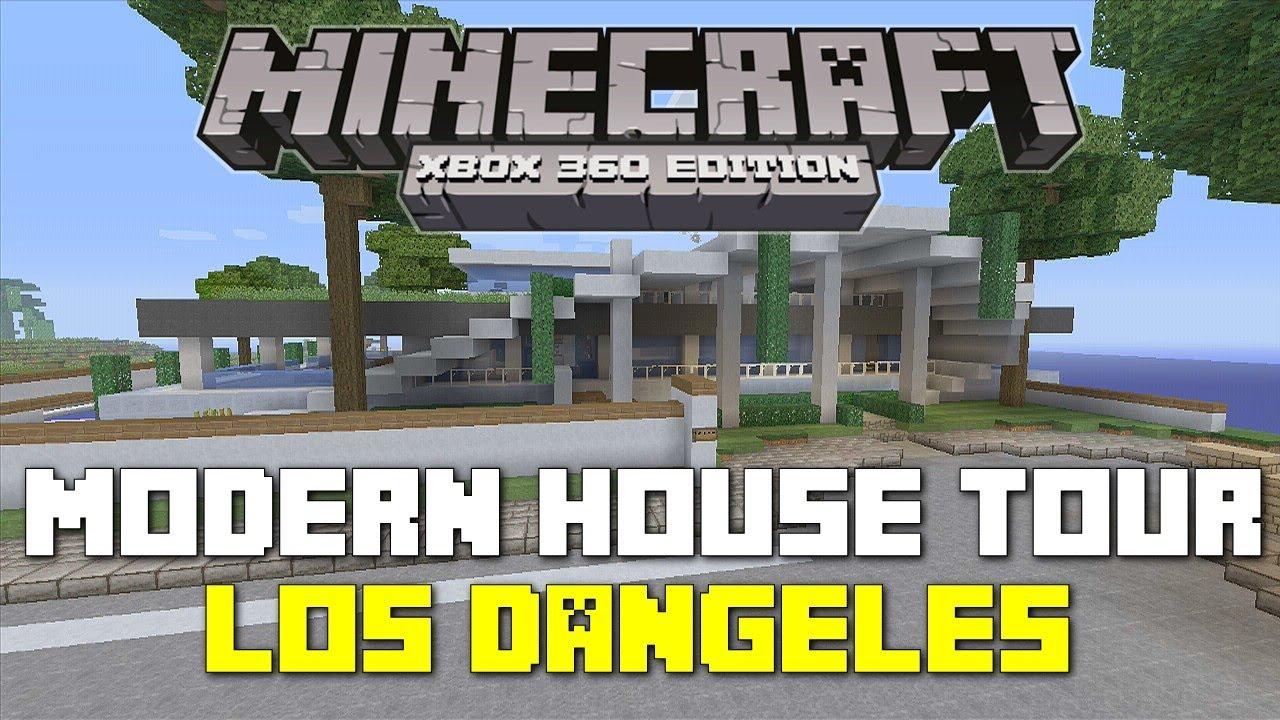 Minecraft xbox 360 seaside modern house house tours of for Modern house xbox minecraft