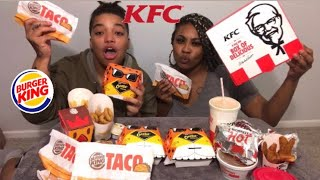 Trying New KFC's Cheetos Sandwich & Burger Kings Tacos + MORE!!!
