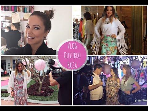 Vlog Outubro Rosa | Apresentando Evento, Desfile e Jantar no Jequitimar