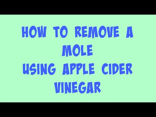 CuteyBeautyTips With Abi | How To Remove A Mole With Apple Cider Vinegar