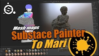 Substance Painter to Mari | Baking mesh maps for you Mari project