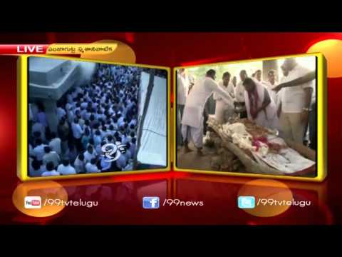 Rahul Gandhi & Digvijay Singh Pay last Respects to Venkatswamy(Kaka) - 99tv