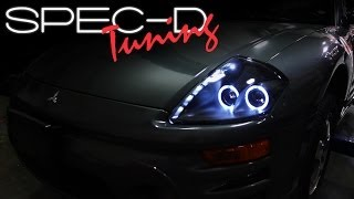 SPECDTUNING INSTALLATION VIDEO: 2000 - 2005 MITSUBISHI ECLIPSE PROJECTOR HEADLIGHTS