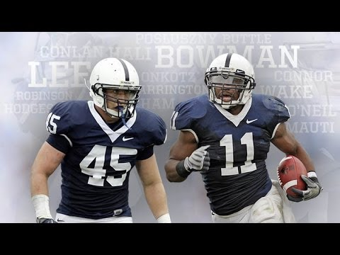 Penn State Linebackers Highlights leading up to the 2009 season. Re-uploaded 10-17-13 in Honor of 3 of Penn States LB's (Lee, Bowman, Posluszny) in the Top 10 in both Combined and Solo Tackles ...