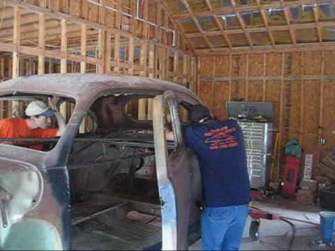 Chopping the top on a Suicide Ford Coupe....Part 1