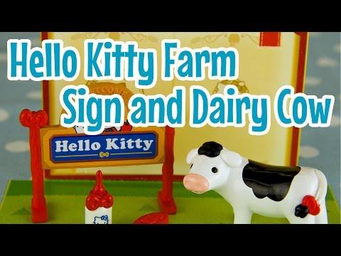 Welcome Sign & Dairy Cow (Hello Kitty Farm) ~ そろそろミルクのじかん (ハローキティ牧場ライフ)