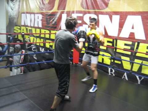 Craig Wilkerson training with Savate Coach Nicolas Saignac Image 1