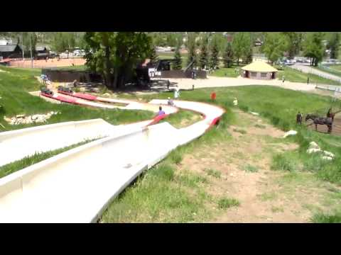 Jason and Amber's alpine slide race