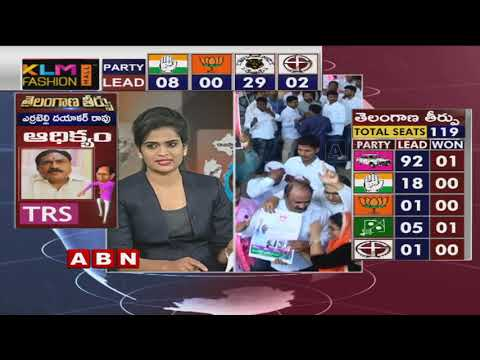 Telangana Elections Results LIVE | TRS Leads in 90,Congress 18 | ABN Telugu