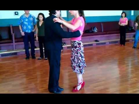 Argentine Tango Class review: Basic steps;Leg Wrap Boleo Volcada www.tangonation.com 10/30/2011