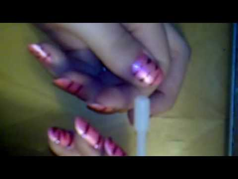nail tutorial: pink & red zebra stripes Video