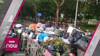 Dân Nam Sơn chặn xe, rác tràn ngập thủ đô