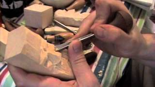 how to; wood carving a face basics PART 3 of 3 beginner intermediate carve wooden