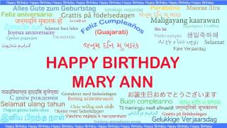 MaryAnn   Languages Idiomas - Happy Birthday