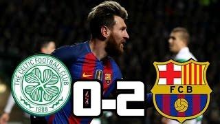 Celtic vs Barcelona 0-2  GOLES  CHAMPIONS LEAGUE  23-11-2016