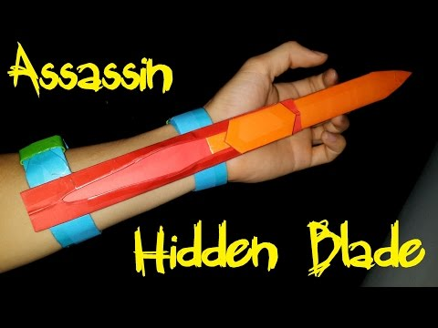 How to make a Assassins Creed Hidden Blade using Paper   Creative Products