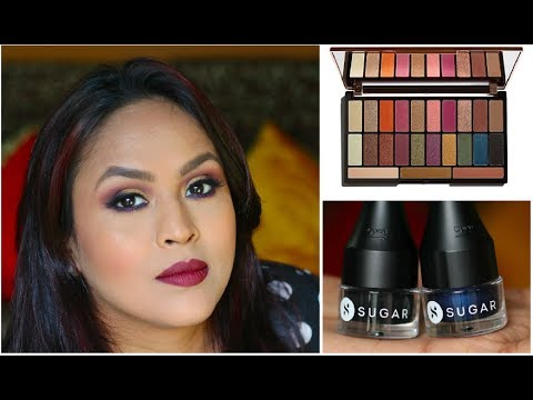 Trying Out New Products - Burgundy Makeup | Makeup For Durga Puja / Navratri