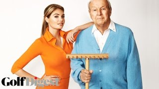 Behind the Scenes with Arnie & Kate Upton-Cover Shoots-Golf Digest